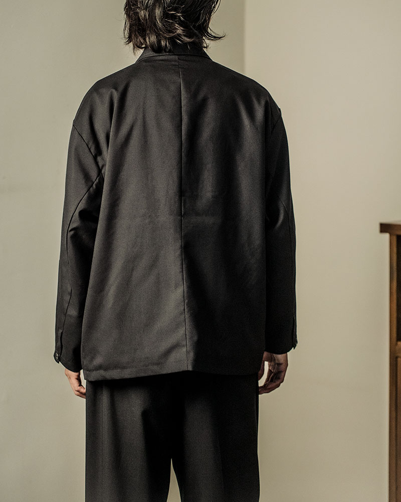 HALHAM|TR Oversized Double-Breasted Tailor Jacket・Black