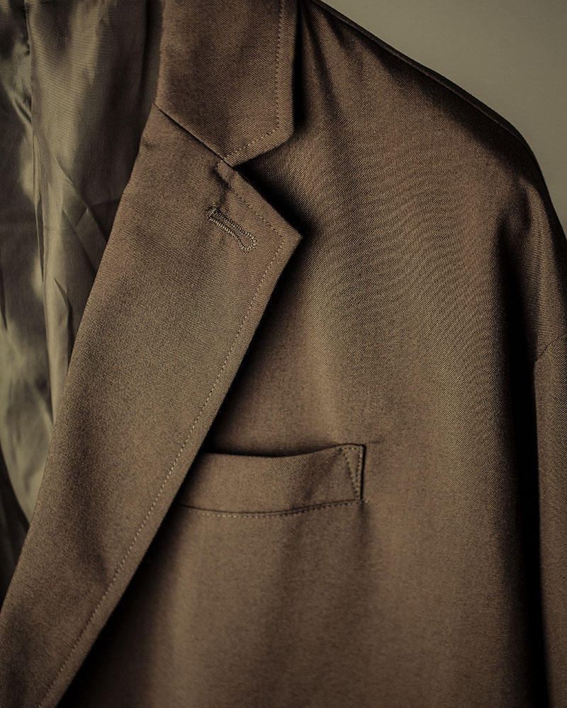 HALHAM|TR Oversized Double-Breasted Tailor Jacket・Khaki