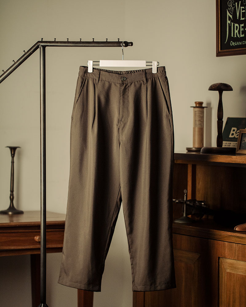 HALHAM|TR Wide Tapered Pants・Khaki