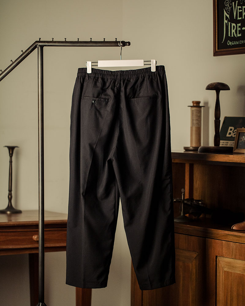 HALHAM|TR Wide Tapered Pants・Black