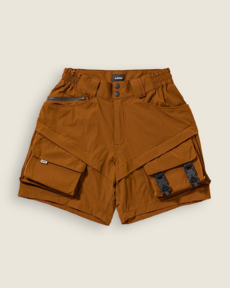 LAKH Supply x HOAX|Ultra Lightweight Utility Shorts・Burnt Orange