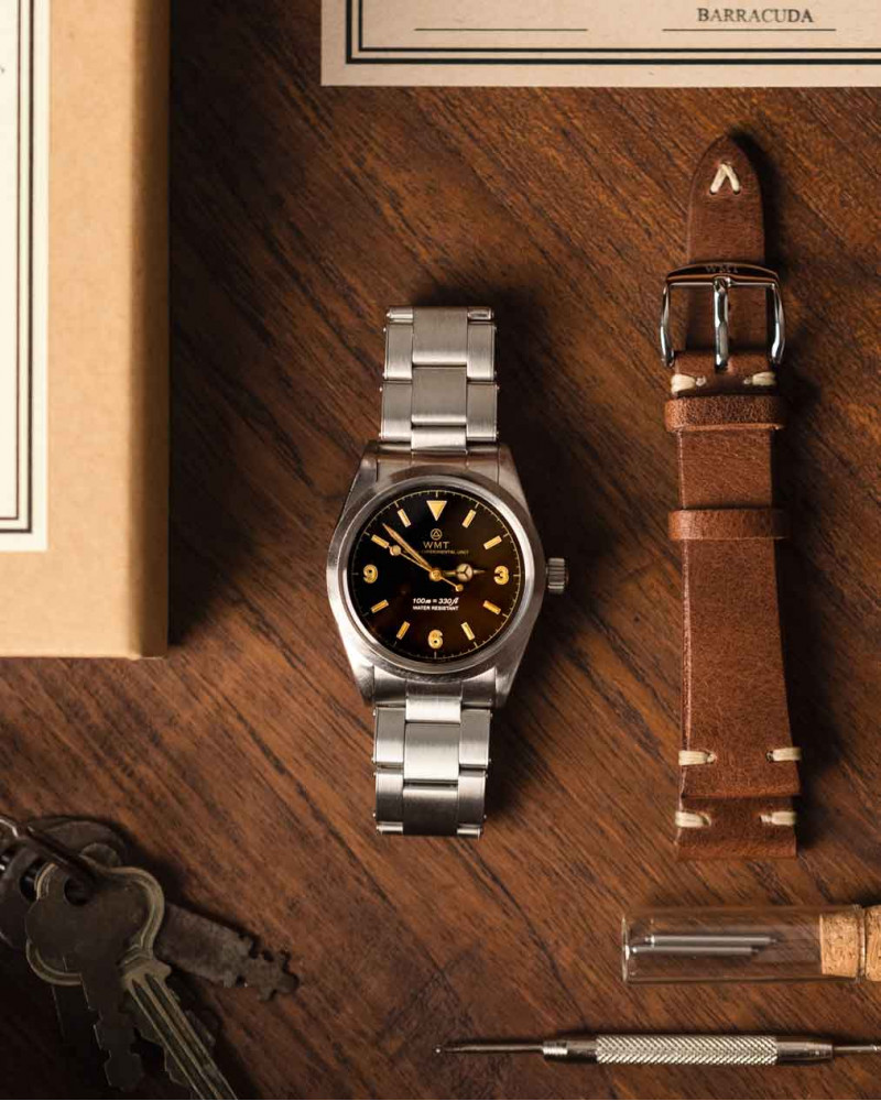 WMT Watches|Barracuda・Tropical Brown / Aged Edition w/ Anziano Leather Strap Set