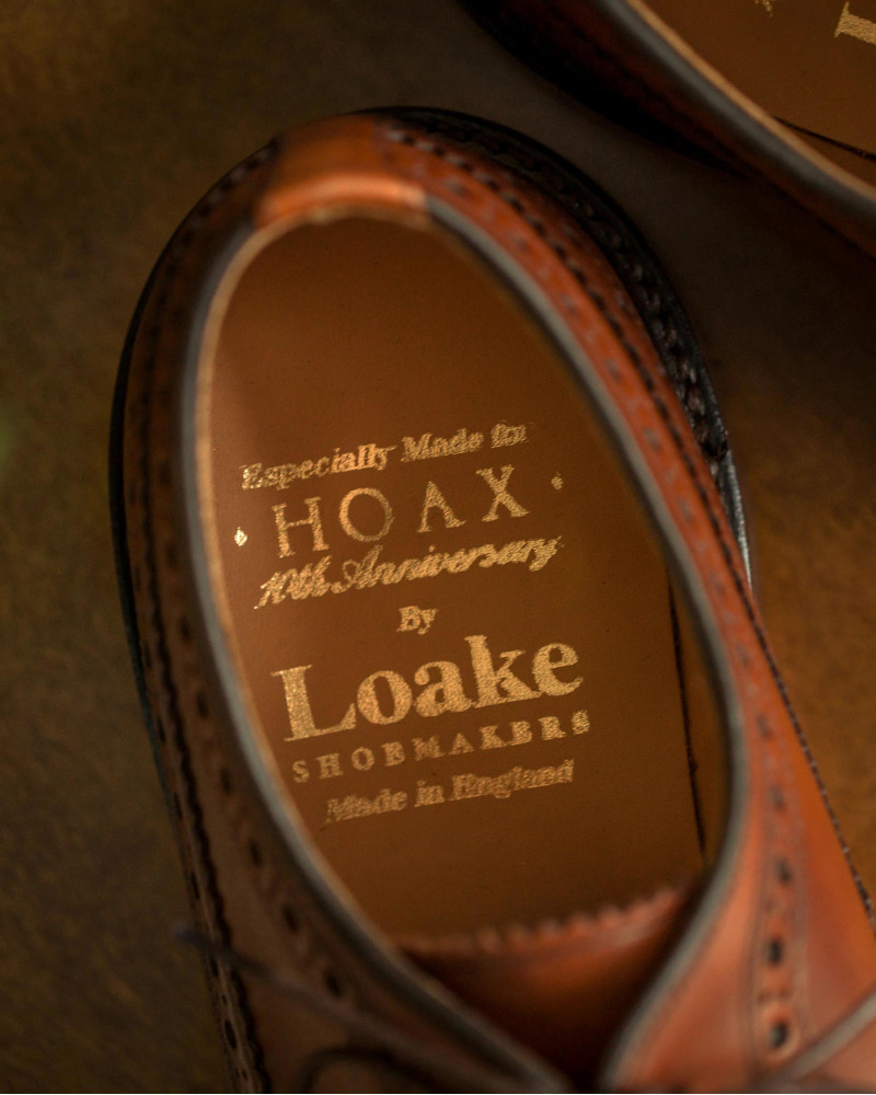 Loake for HOAX 10th|Royal Long Wing Brogue・Mahogany