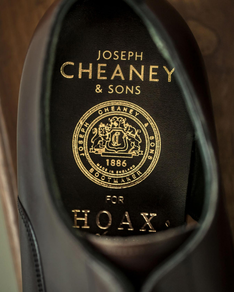 Joseph Cheaney & Sons for HOAX 10th|Rushton III Semi Brogue・Black