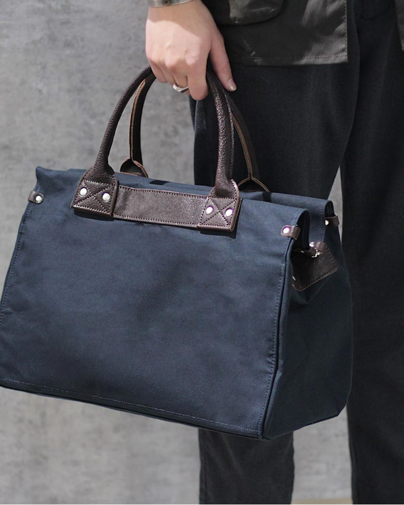 Butler Verner Sails|Paraffin Boston Bag・Navy