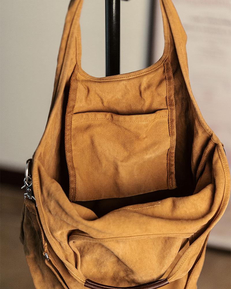 Butler Verner Sails Two-Way Canvas Shoulder Bag.Camel