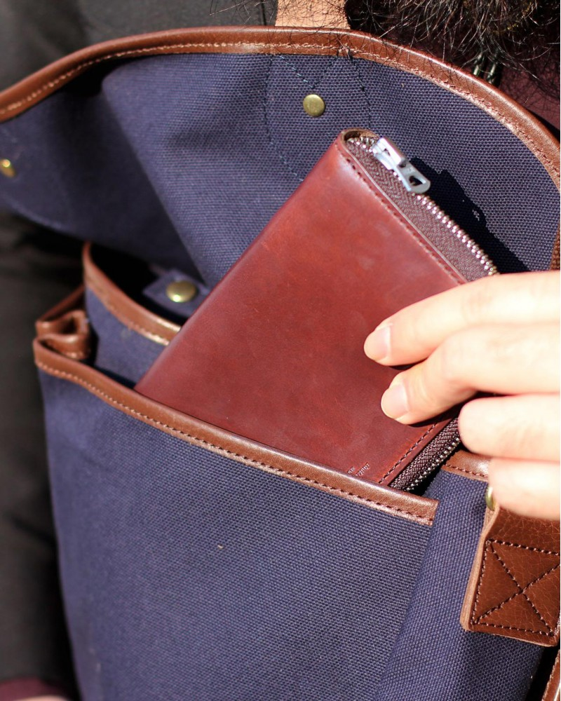 Butler Verner Sails|Horween Leather Long Wallet