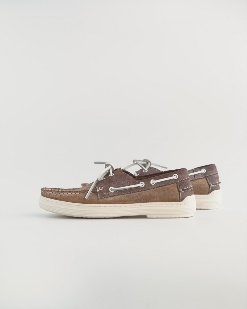 RAD by RAUDi|R2050 Air Ring System Deck Shoes・Brown