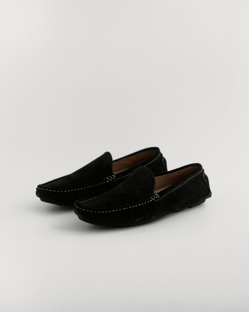 RAD by RAUDi|2130 Suede Driving Shoes・Black
