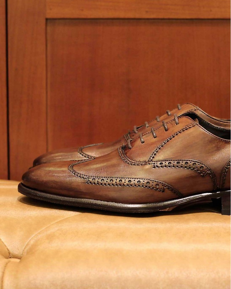 Calzoleria Toscana 2338 Wingtip Oxford・Dark Brown