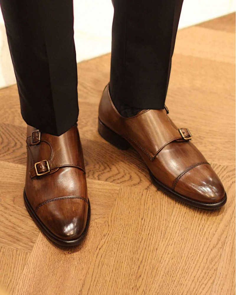 Calzoleria Toscana|2764 Double Monk・Dark Brown