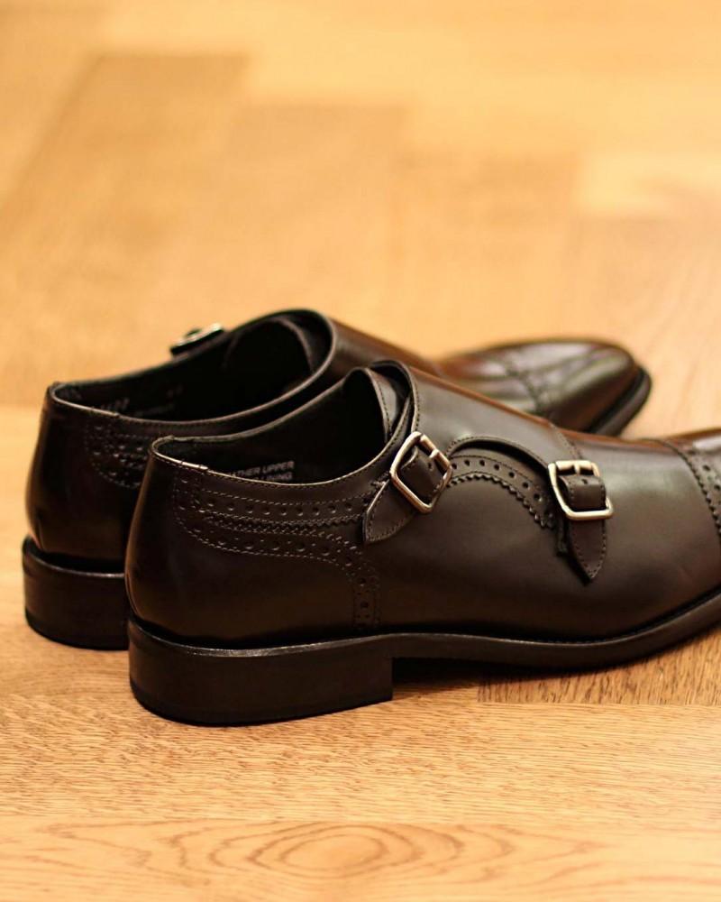 Calzoleria Toscana 3622 Double Monk Strap Shoes.Black