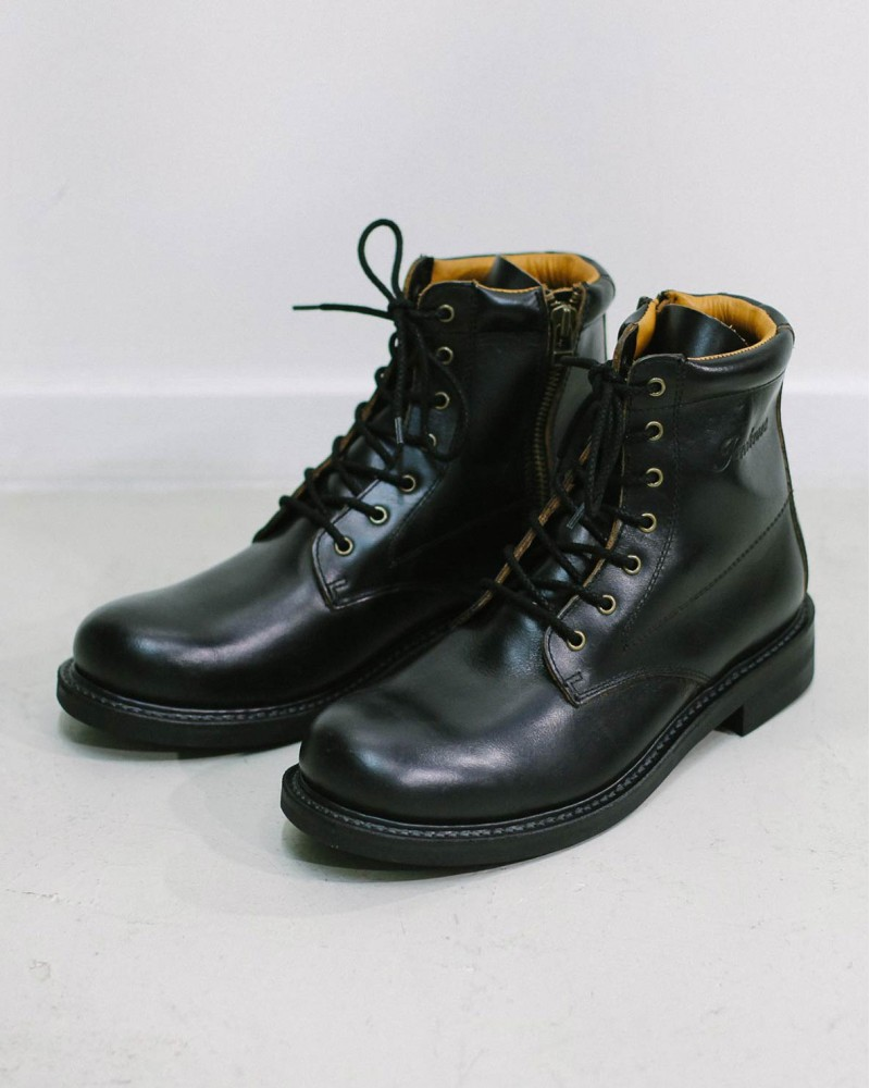 Slow Wear Lion Zip-up Boots・Black