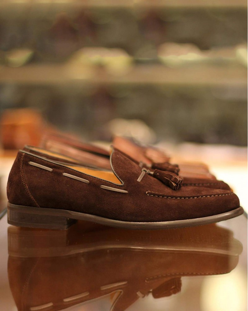 Calzoleria Toscana 8736 Tassel Loafer · Chocolate