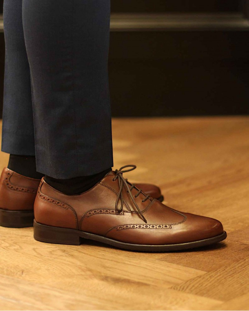 Calzoleria Toscana A678 Wing Toe Oxford · Brown