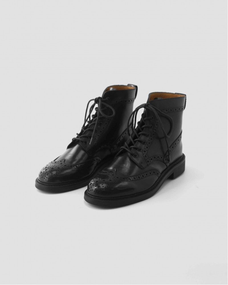 Brother Bridge D005 Wingtips Boots・Black