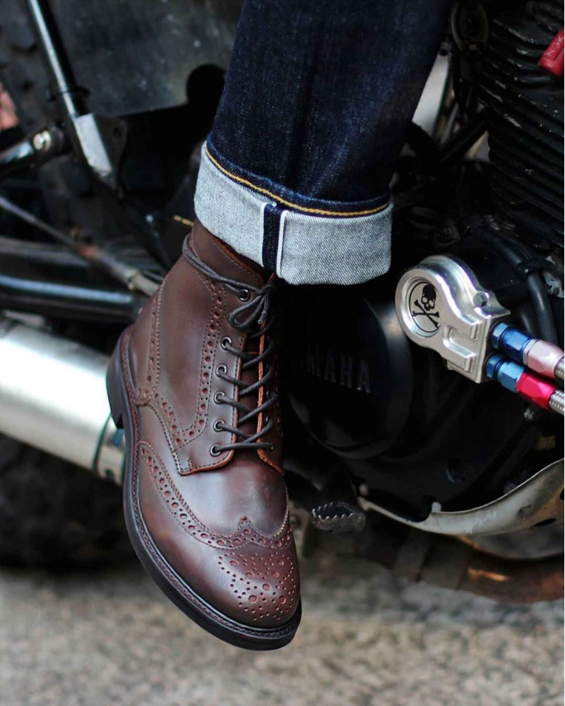 Brother Bridge D005 Wingtips Boots・Dark Brown
