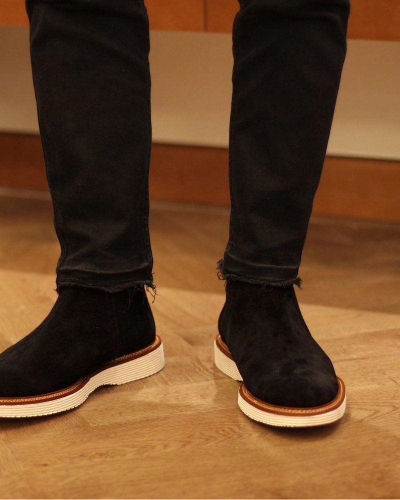 Calzoleria Toscana|A908 Chelsea Boots.Black Suede