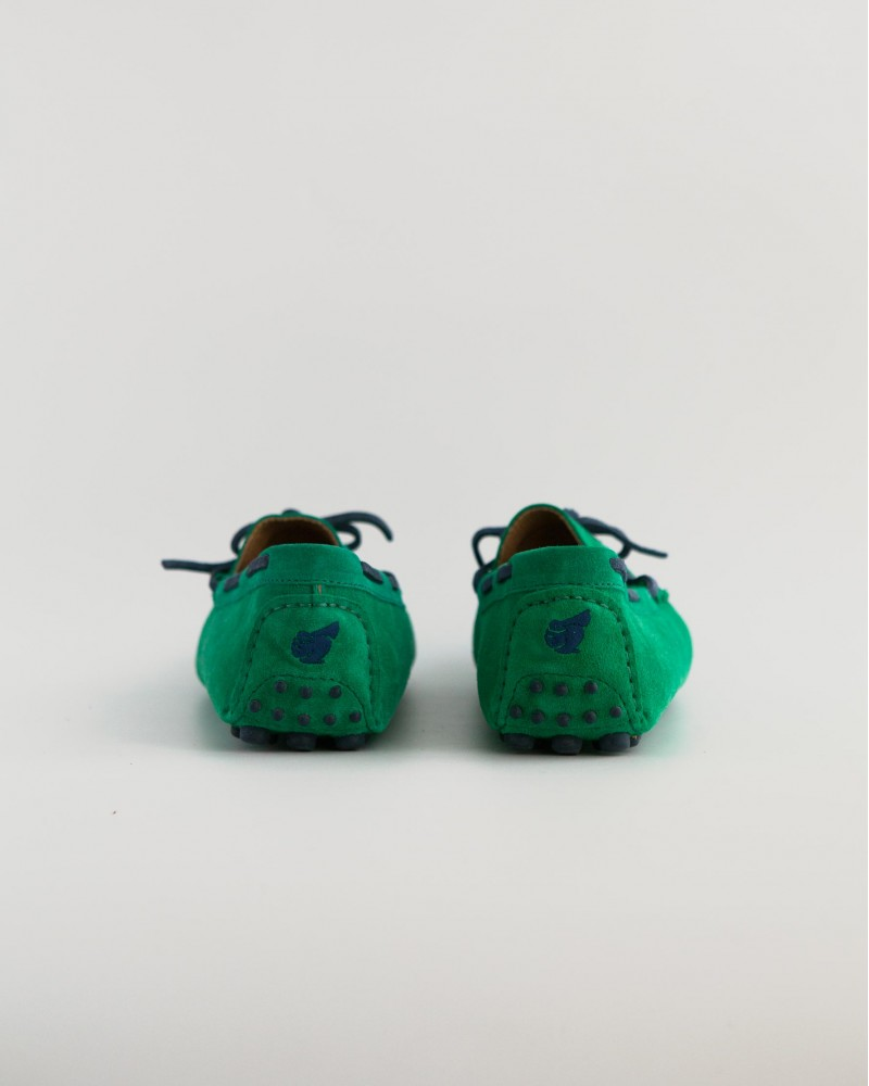Bobbies|Suede Driving Shoes・Green