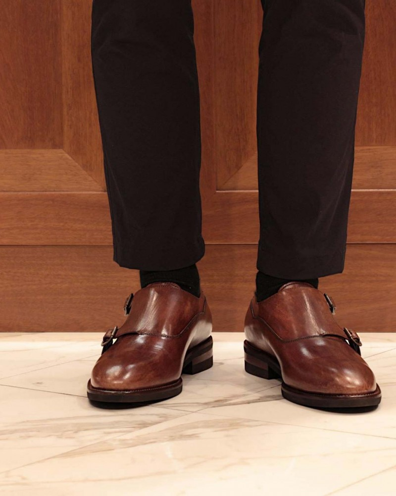 Calzoleria Toscana|H145 Double Monk・Brown Patina