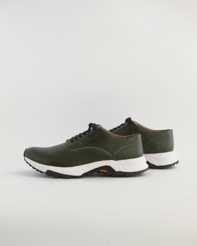 Mythography x WST END by HOAX|Leather Sneakers・Olive