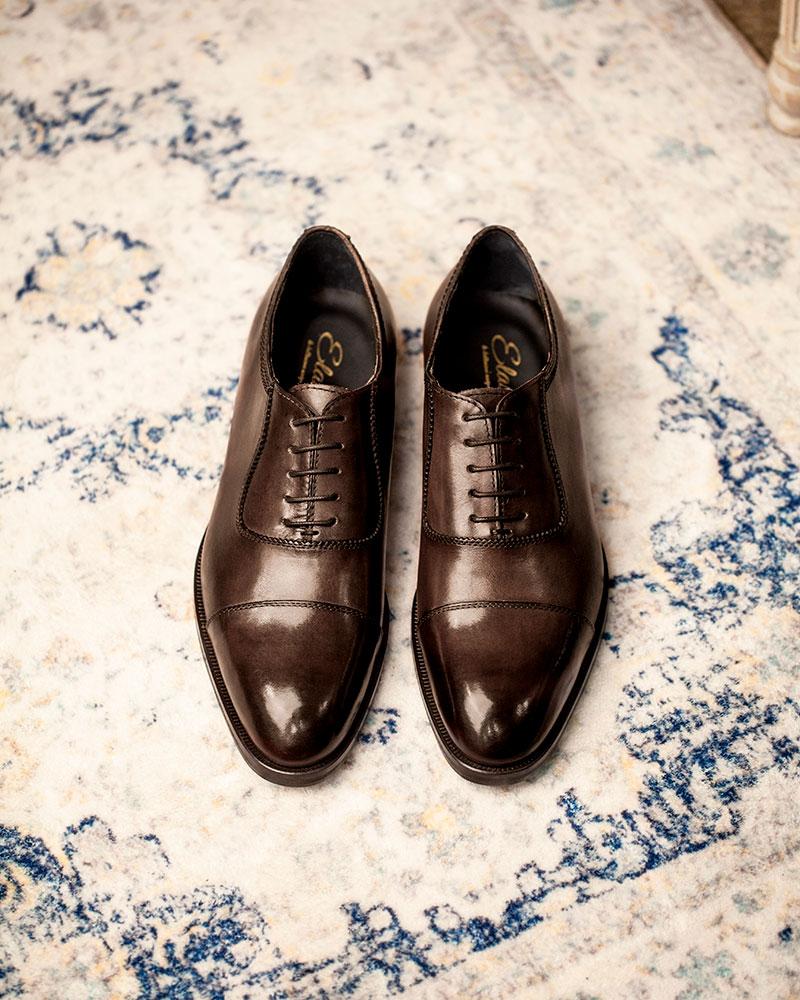 Elastico|14-09 Captoe Oxford・Dark Brown