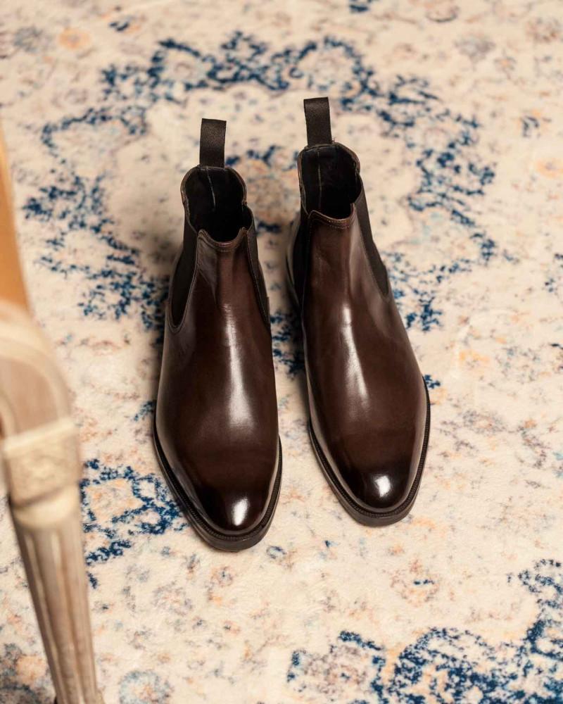 Elastico|14-41 Chelsea Boots・Dark Brown