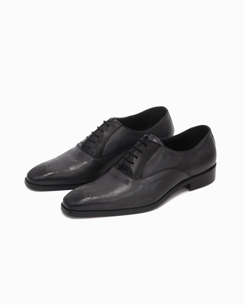 Elastico Two-Tone Oxford・Black/ Grey