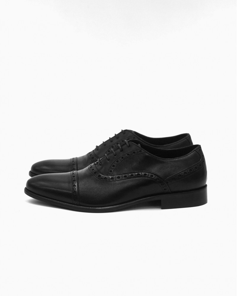 Elastico Punched Oxford・Black