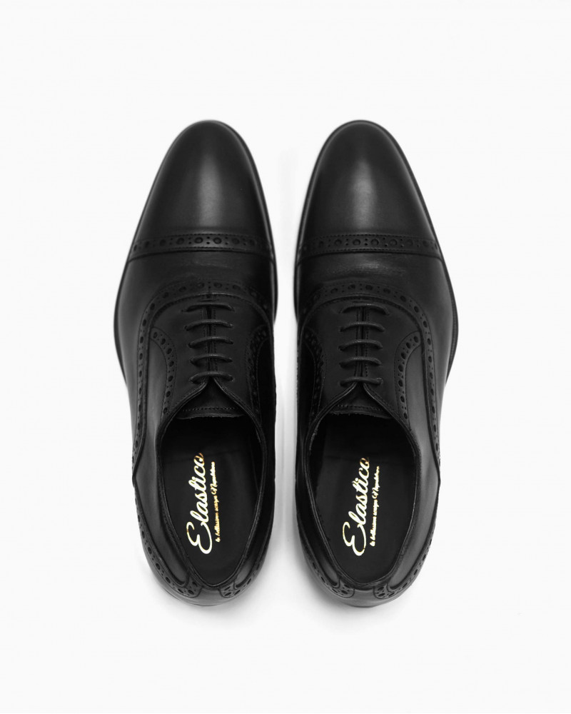 Elastico|908 Punched Oxford・Black