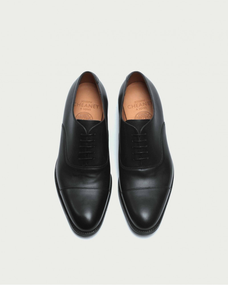 Joseph Cheaney & Sons | Lime Cap Toe Oxford・Black