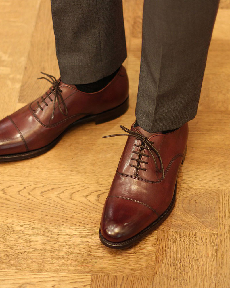 Joseph Cheaney & Sons | Lime Cap Toe Oxford・Burgundy