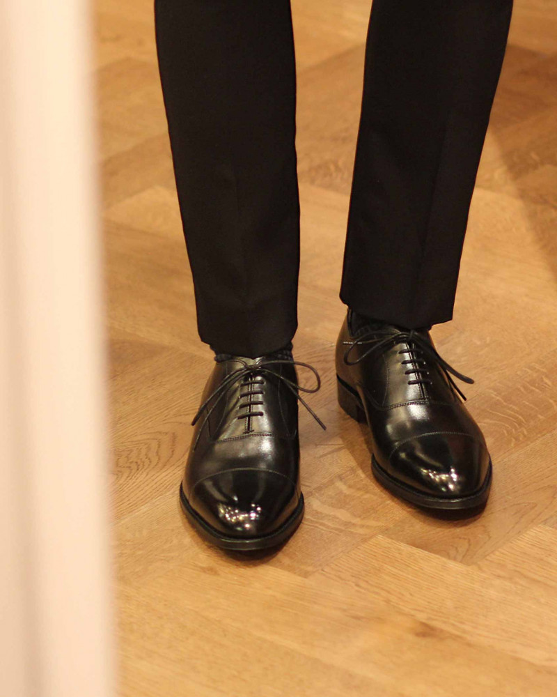 Joseph Cheaney & Sons Cap Toe Oxford・Black