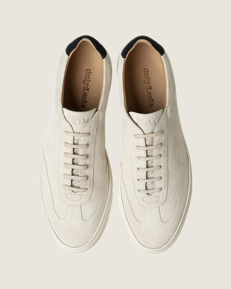 英國直送 Design Loake Owens Sneakers・Stone Suede