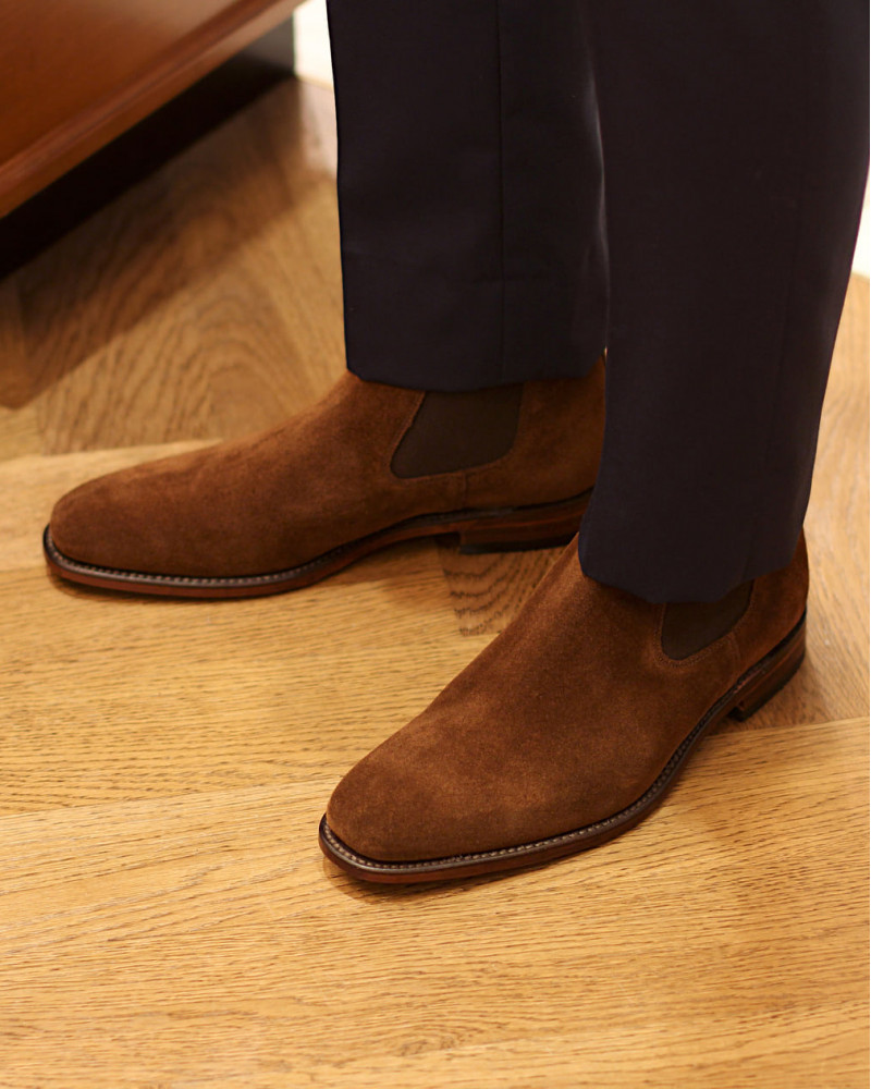 Loake|Mitchum Suede Chelsea boots