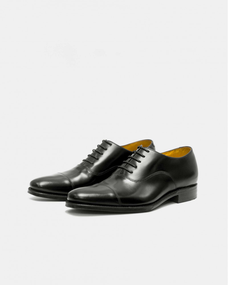 Loake Smith Cap Toe Oxford・Black