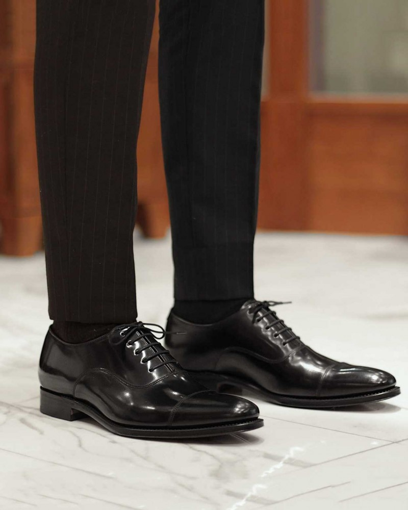 Loake|Smith Cap Toe Oxfords・Black