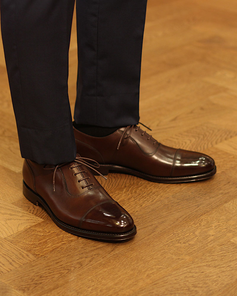 Loake 1880 Legacy|Evans Cap Toe Oxford・Dark Brown