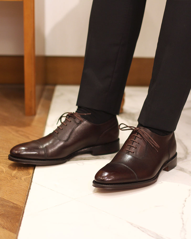 Loake 1880 Legacy|Evans Cap Toe Oxford・Dark Brown Grain