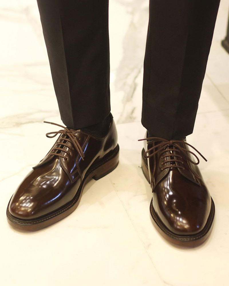Loake for HOAX|Perth Plain Toe Derby・Expresso