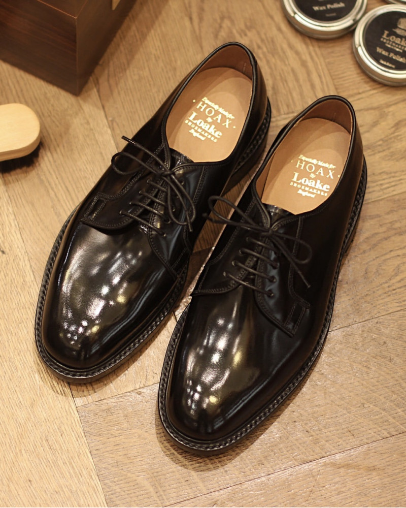 Loake for HOAX|Perth Plain Toe Derby・Black
