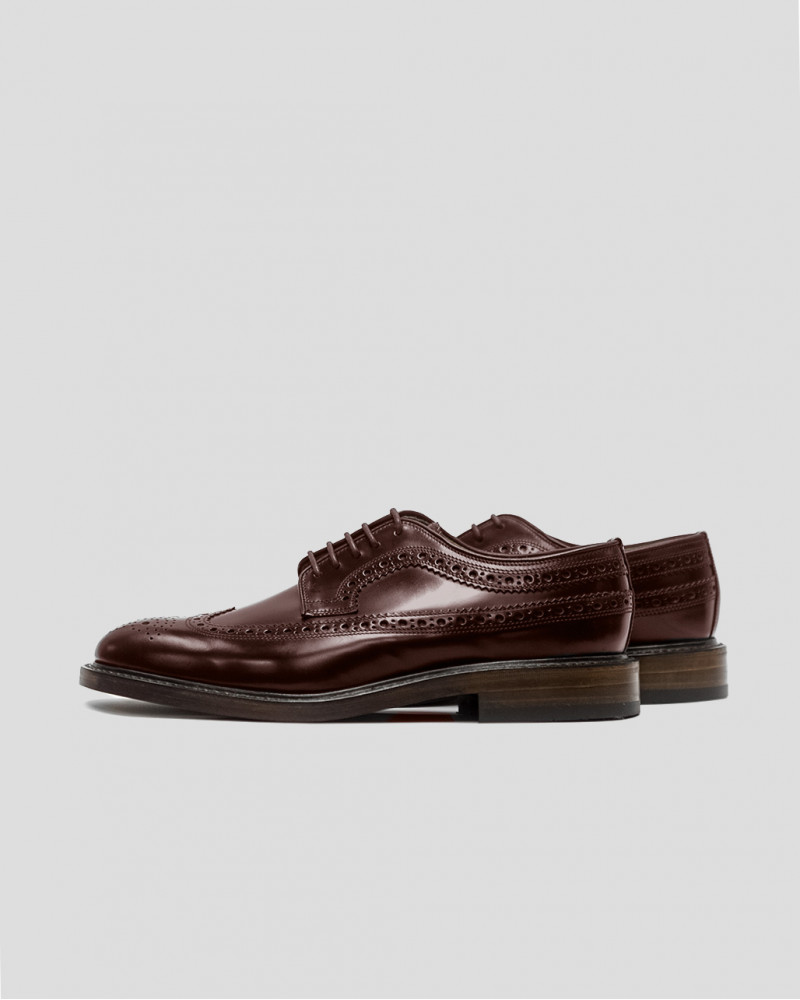 Loake|Royal Long Wing Brogues・Oxblood