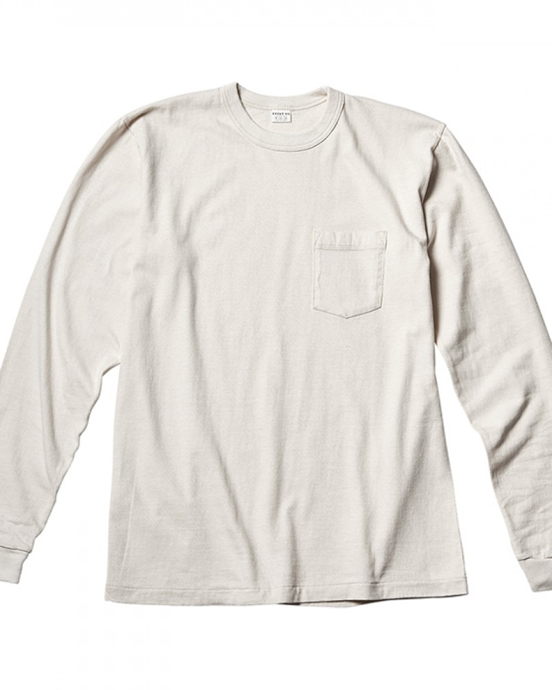 ENTRY SG Pueblo Long Sleeve Pocket Tee・White