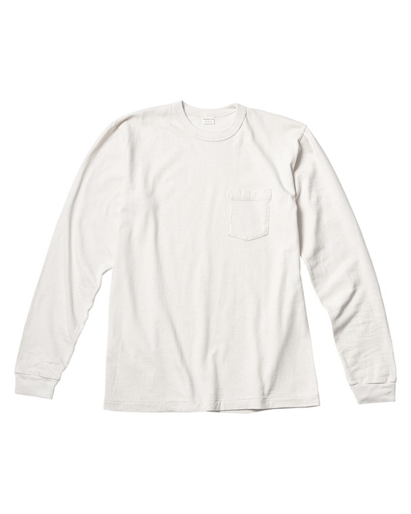 ENTRY SG Pueblo Long Sleeve Pocket Tee・Pure White
