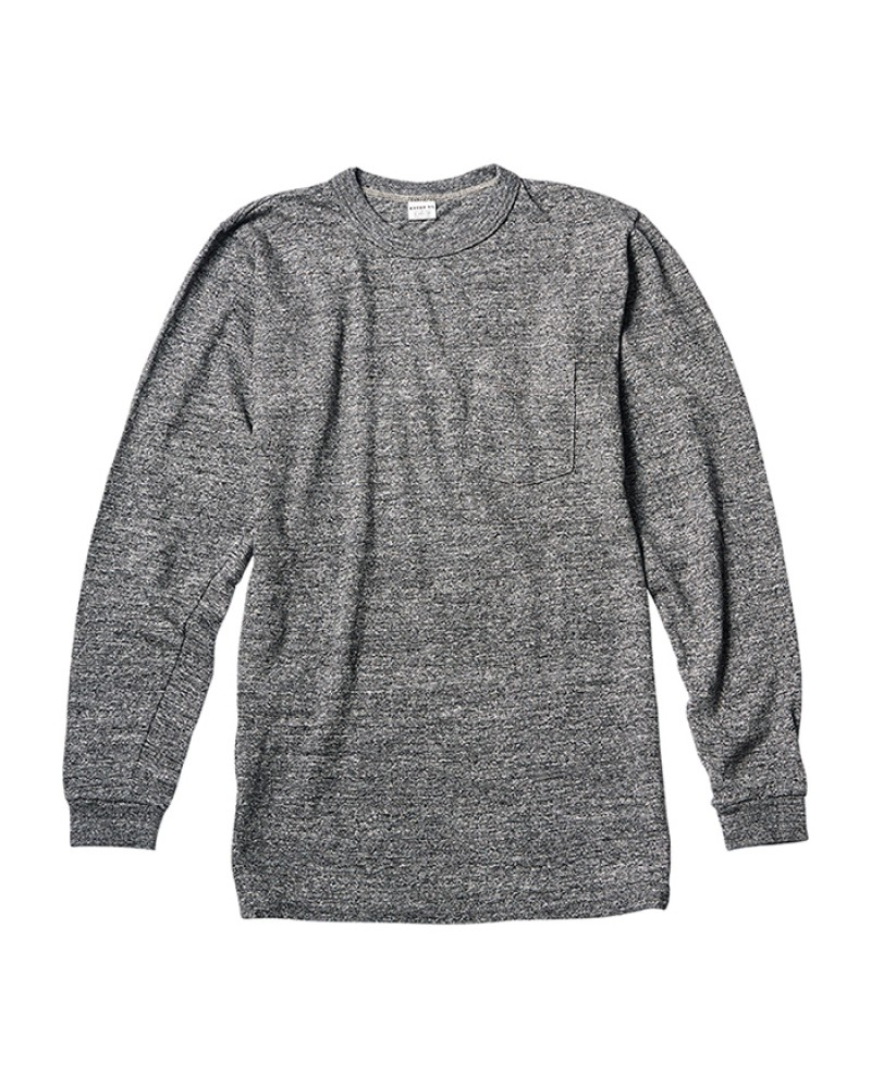 ENTRY SG Pueblo Long Sleeve Pocket Tee・Graphite