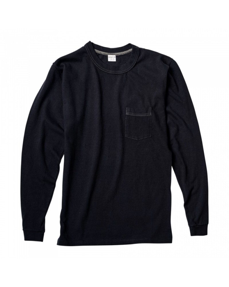 ENTRY SG Pueblo Long Sleeve Pocket Tee・Black