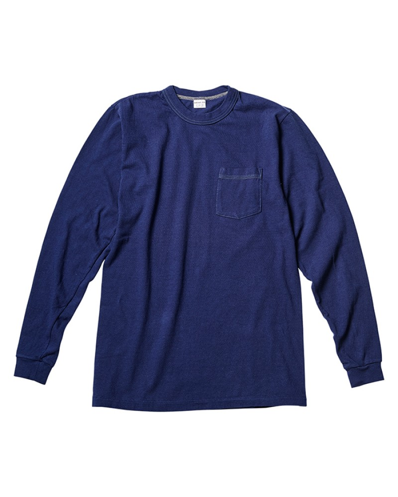 ENTRY SG Pueblo Long Sleeve Pocket Tee・Navy