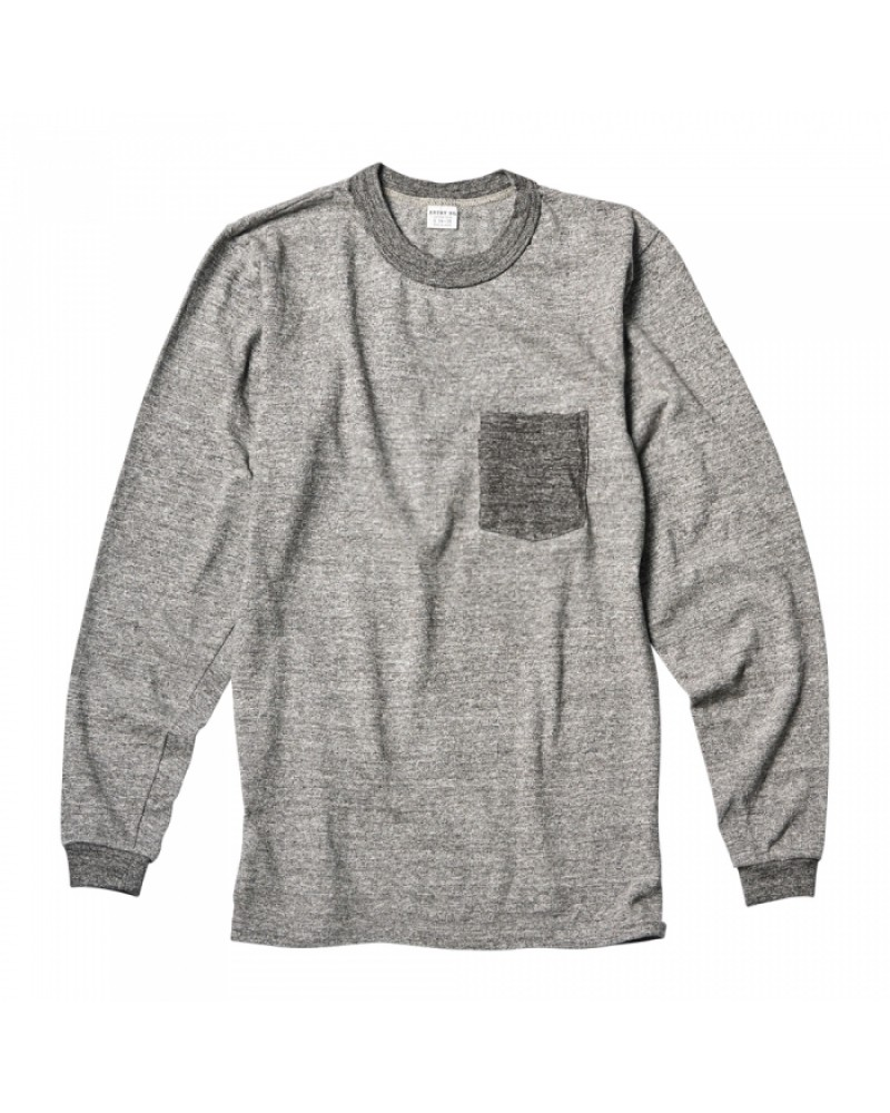 ENTRY SG Pueblo Long Sleeve Pocket Tee・Two Tone
