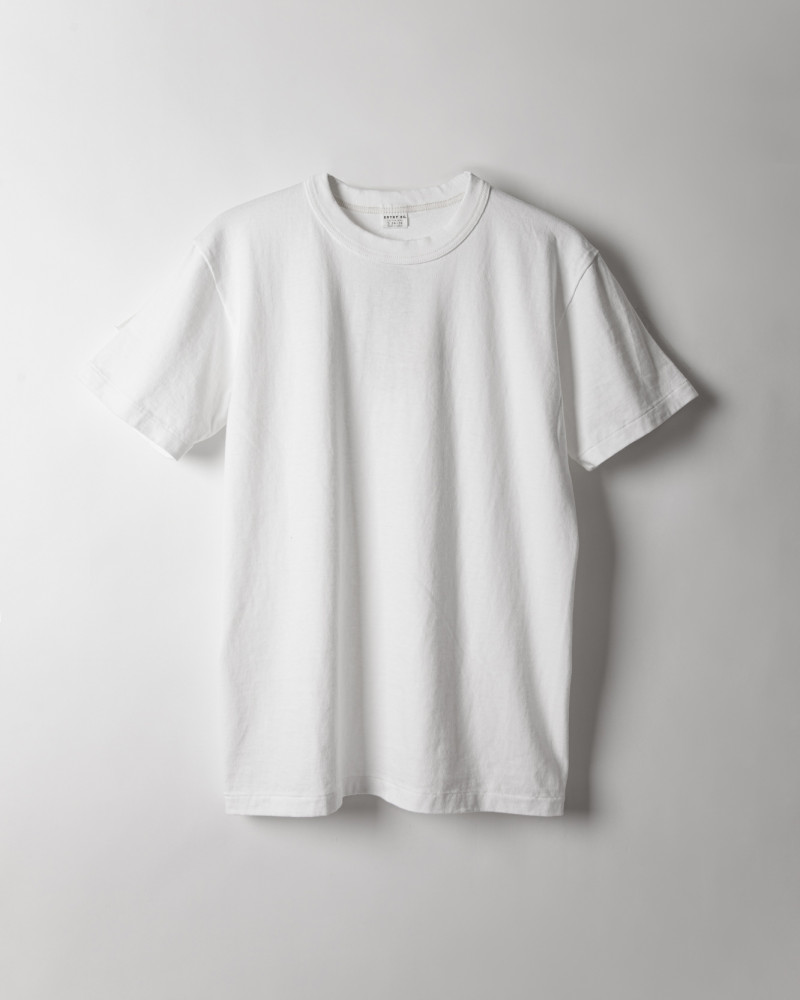 "ENTRY SG|""Excellent Weave"" Tee.Pure White"