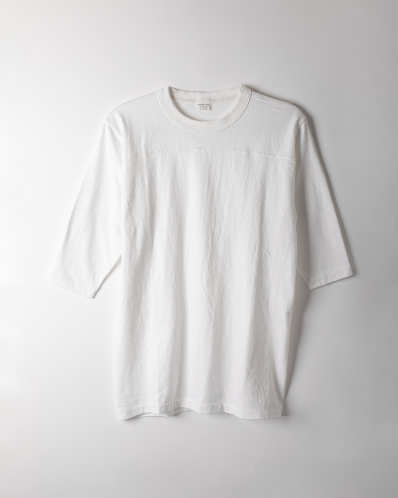 ENTRY SG|Remedy Half Sleeve Tee・Pure White